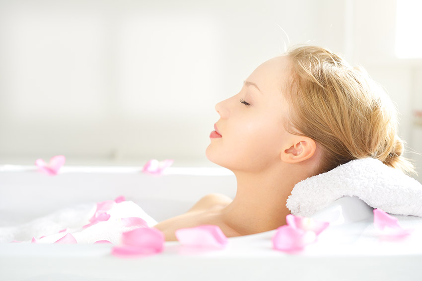 A hot bath can help to reduce your stress