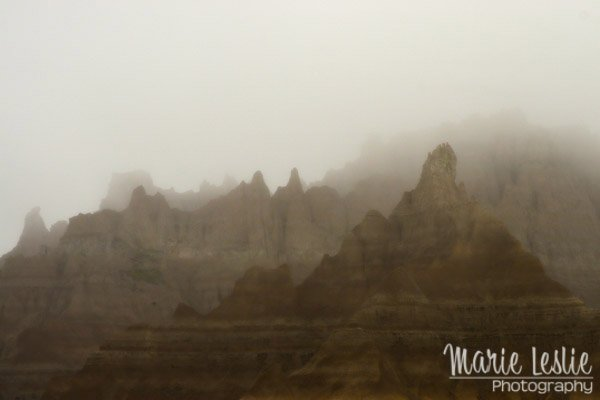 Foggy Day at the Badlands