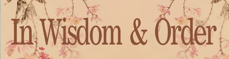 In Wisdom and Order–Book Review