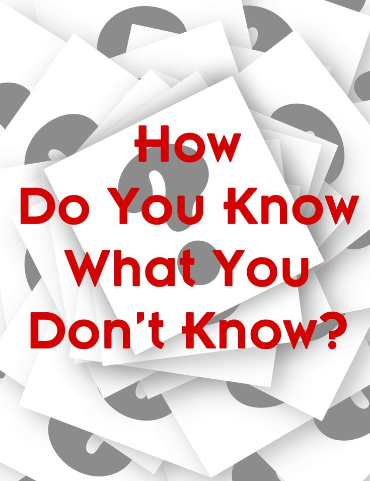 How do you Know What You Don't Know?