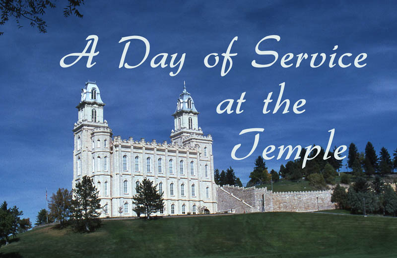 A Day of Service At the Temple