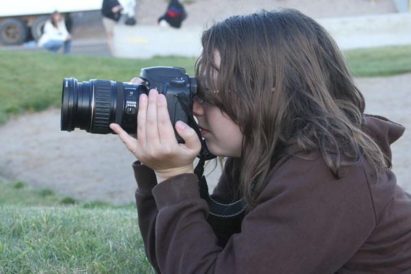 girl with canon camera