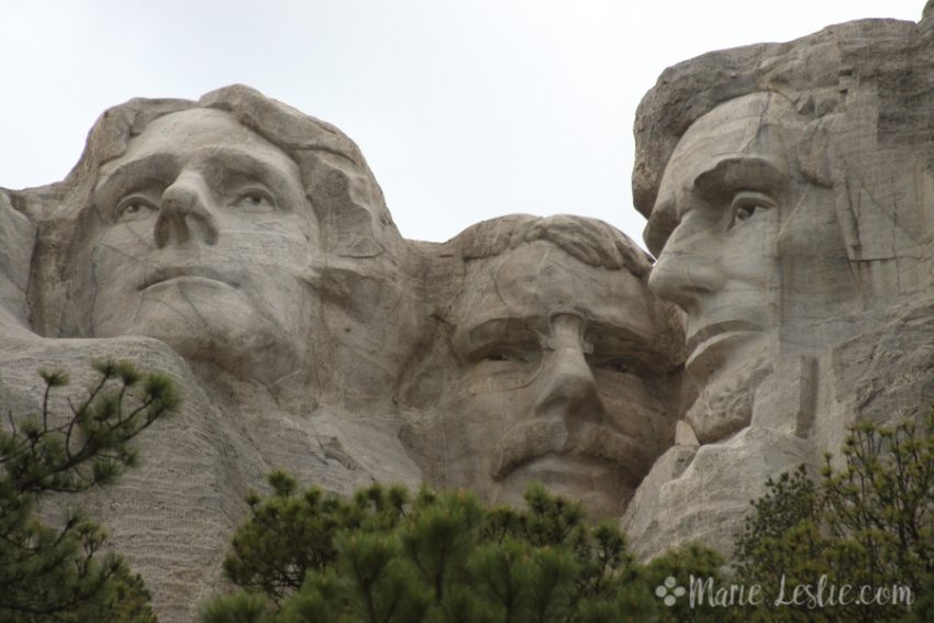 Mt. Rushmore close up
