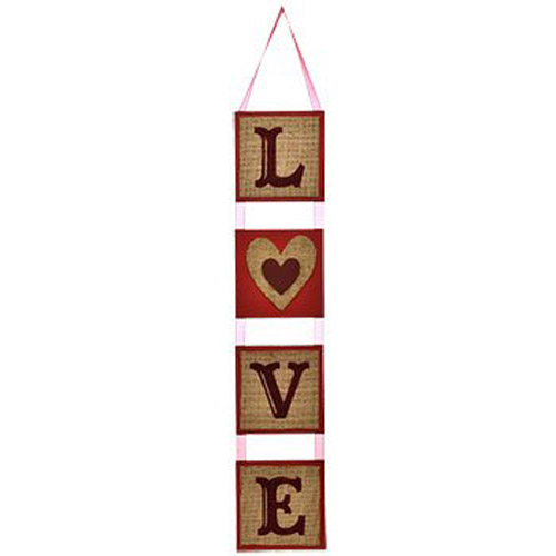 Burlap LOVE Hanging Wall Decorations