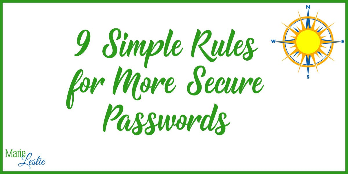 9 Simple Rules for More Secure Passwords