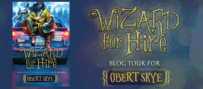 wizard for hire by obert skye blog tour