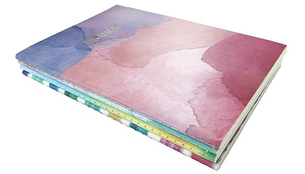 Watercolor Softcover Notebooks 4-pack