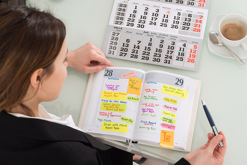 set a schedule to start out right in your business