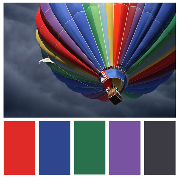 color schemes to boost your business can come from art