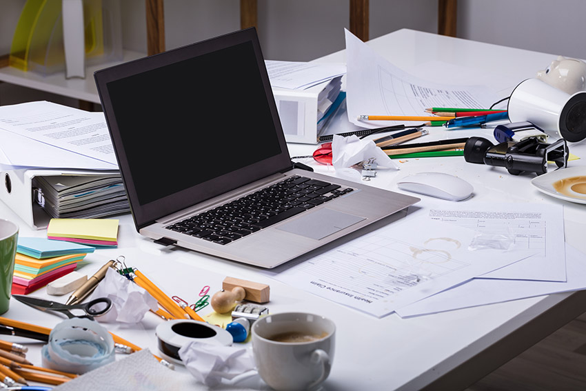 declutter your physical business space to start strong